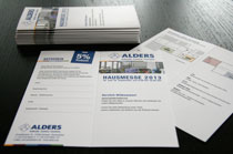 Flyer zur ALDERS Hausmesse 2013