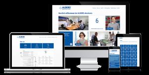 Mockup der Alders Karriere Homepage