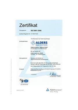 ALDERS Zertifikat 9120 2010