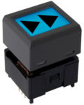NKK Switches Displaytaster Wide 64x32 LCD Pushbutton Compact PB alders
