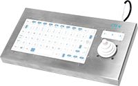 CTI Electronics KIF66U6-N2W medizinische Tastatur / medical keyboard alders